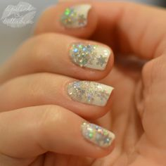 Evelyn & Charles Snowdrop and KB Shimmer Flake Dance manicure