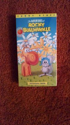 Rocky & Bullwinkle VHS Tape  Pottsylvania Creeper USA Buena Vista Unopened
