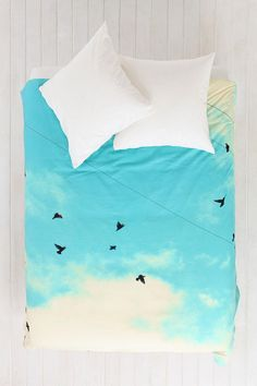 Shannon Clark For DENY Blue Skies Ahead Duvet Cover - Urban Outfitters