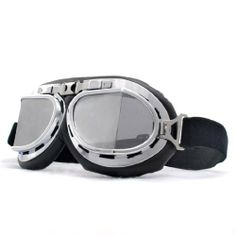 """Retro Style Military Army Tactical Ski Skiing Snowmobilings Snowboard Snow Snowmobile Snowvehicle Chrome Frame Sun UV Protect Goggles Sunglasse by Astra Depot. $12.99. This Listing is for an excellent Military Flying Style Goggle Specifications:•Package Includes: One Transparent Mirror Reflection Lens Flying Style Goggle •Size: L 7 1/2"""" x 3 3/8"""" (19 cm x 8.5 cm) •Weight: Approx 0.18 lb (80grams) Features:•Nice quality chrome frame finish with Black..."""