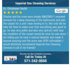 Charles and his crew were simply AMAZING!! I received services for a deep cleaning of the...
