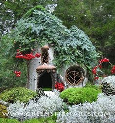 Sally Smith  Christmas house--adorable little fairy house