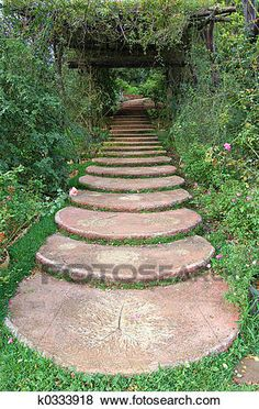 Simple and Affordable Wooden Garden Path Ideas 33 Path Design, Landscape Design, Garden Design, Design Ideas, Desert Landscape, Stone Garden Paths, Garden Steps, Stone Path, Dream Garden