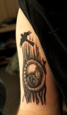 This is pretty rad! To Kill a Mockingbird cover tattoo!