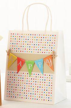 Happy Banner Gift Bag by @Stephanie Close Halinski