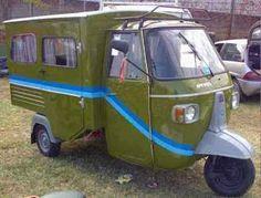 Piaggio camper Mini Camper, Off Road Camper, Piaggio Ape, Camper Caravan, Camper Trailers, Retro Campers, Vespa Ape, Side Car, Bike Trailer