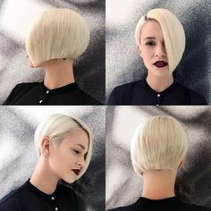 Asymmetric Blond Bob