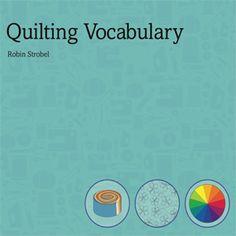Quilt vocabulary