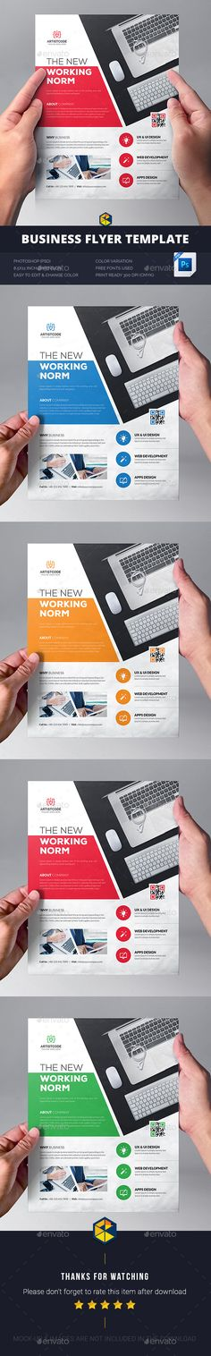 Corporate Business Flyer Template PSD. Download here…