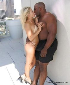 black Interracial wife kissing