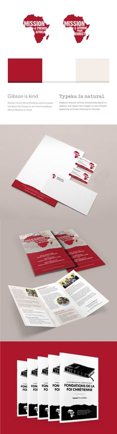 Mission French Africa branding and collateral by Strong Design #logo