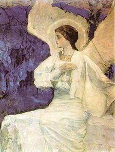 Angel at the Empty Tomb, Mikhail Nesterov, 1911