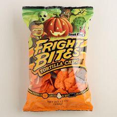 Fright Bites Tortilla Chips at Cost Plus World Market >> #WorldMarket Halloween #HalloweenTreats #HalloweenEntertaining