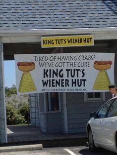 King Tut's Wiener Hut in Nags Head, North Carolina