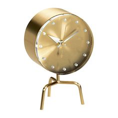 Buy Vitra George Nelson Tripod Mantle Clock, Dia. 33cm Online at johnlewis.com