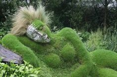 Topiary woman