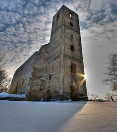 Katarínka in winter Slovakia Dechtice Peaceful Places, Medieval, Most Beautiful, Country, Building, Winter, Travel, Winter Time, Viajes