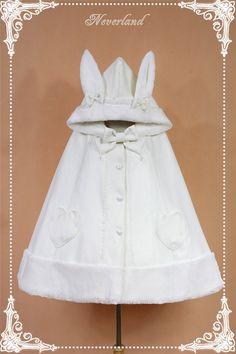 Cream White Woolen Lolita Cape