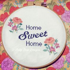 Home Sweet Home Cross Stitch Pattern by EmilyandThread on Etsy