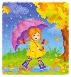 autumn preschool activities autumn for kids activities crafts worksheets children Art Drawings For Kids, Drawing For Kids, Easy Drawings, Art For Kids, Rainy Season Pictures, Rainy Day Images, Autumn Activities For Kids, Preschool Activities, Rainy Day Drawing