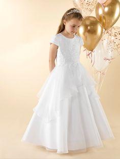 LWCD40 Communion Dress Holy Communion Dresses, First Holy Communion, Little White, Bodice, Flower Girl Dresses, Satin, Wedding Dresses, Skirts, Collection