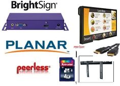 """Complete Digital Signage solution with Planar 42"""" monitor, BrightSign Player, Peerless Mount and more"""