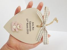 Personalised wooden heart  bridesmaid/ flower girl/ by weedots, £8.50