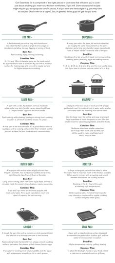 Cookware Types, Guide to Cookware & Cookware Uses | Williams-Sonoma