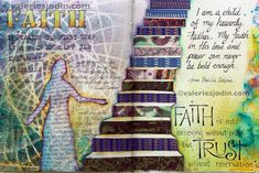 """visual blessings: Even More Faith Journaling Caption: some of the verses used for inspiration include..... """"Faith is not believing without proof, but trust without reservation"""" - Elton Trueblood """"Invest your faith in the character of God."""" - Oswald Chambers"""