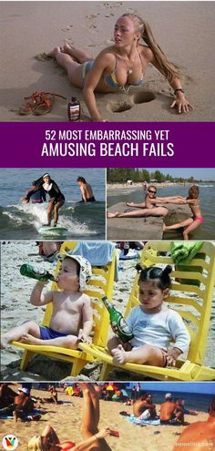 52 Most Embarrassing Yet Amusing Beach Fails – bemethis 52 Most Embarrassing Yet Amusing Beach Fails Listed in this post are 52 photos of the weird events that happened at the beach. Beach Memes, Beach Humor, Funny Beach Pictures, Funny Photos, Miley Cyrus Pictures, Acting Lessons, Vacation Humor, Best Fails, Funny Pins