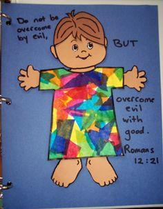 Joseph's coat of many colors craft. #biblecrafts