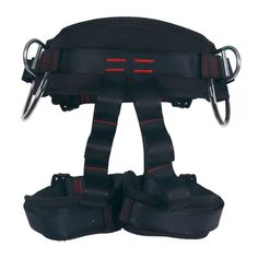 Climbing Harness Ingenuity Professional Mountaineering Rock Climbing HarnessRappelling Safety Harness Work Safety Belt Black 1 -- Find out more about the great product at the image link. (This is an affiliate link) Rock Climbing Harness, Rock Climbing Gear, Mountaineering, Black Belt, Gears, Image Link, Safety, Awesome, Red