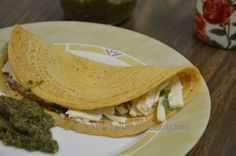 Besan Cheela (savory pancake with bengal gram flour)