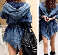 Available+in+size:+S/M/L  Fabric+and+Care:+  -+Denim+  -+Machine+Wash+  Overview:+  -+Turn+Collar+  -+Long+Sleeve+  -+Drawstring+  Length:79+cm+  Bust:100+cm+  Sleeve:60+cm+  Shoulder:36+cm    *+Follow+@missdoublelw+on+Instagram+for+more+discount:  http://instagram.com/missdoublelw+    *+Don't+mi...