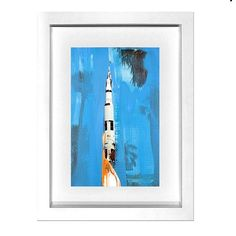 The perfect holiday gift no. 7: an original postcard painting by #MichaelKagan from exhibitiona.com. @mrkagan #apollo #liftoff #blastoff #nasa #space #spaceprogram #spaceshuttle #spacemission #contemporaryart #holidaygift #giveart #exhibitiona by exhibitiona
