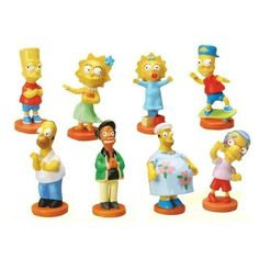The Simpsons Mini Body Bobble Figure - Vending Machine Toys :Complete Set of 8 Figures by Japan. $15.99. You are getting a complete set of 8 figures. Hard to find collectible vending mashine toys. Small figures - appox 1 inch tall. For age 6 and up. The Simpsons Mini Body Bobble Figure - Vending Machine Toys