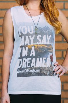 """You may say I'm a dreamer... I'm not the only one!"" The perfect tee for all John Lennon & photography fans :)"