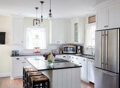 L Shaped Kitchen Design With Island 19 elegant l-shaped kitchen design ideas | kitchens, house and