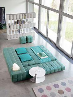 Huge Bed For Lazy Days Unique Furniture, Teal Furniture, Furniture Design,  European Furniture