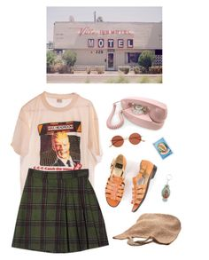 """reality"" by paper-freckles ❤ liked on Polyvore featuring Crosley, Flora Bella, Oliver Peoples and Virgins Saints & Angels"