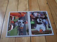 T.J. WARD BARKEVIOUS MINGO RC 2013 Topps Cleveland Browns (2) Card Lot Mint NFL