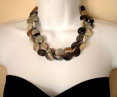 Earth Tone Chunky Necklace