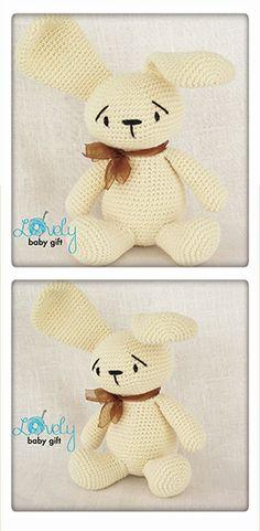 bunny crochet pattern, amigurumi bunny, amigurumi pattern