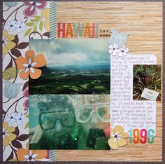 Let a paper inspire your scrapbook layouts | http://scrapinspired.com/?p=7266