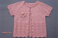 Moda Black, Crochet Flower Tutorial, Crochet Flowers, Baby Girl Sweaters, Moda Emo, Baby Vest, Baby Knitting Patterns, Baby Items, Crochet Baby