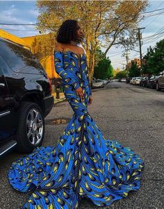 African Print Dress Prom, Long African Dresses, Latest African Fashion Dresses, Ankara Fashion, Fashion Outfits, African Inspired Fashion, African Print Fashion, African Prints, Africa Fashion