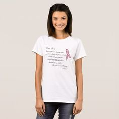 #Breast Cancer: Dear God T-Shirt - #breastcancer #tshirts #support #awareness #wife #women #woman #breast #cancer