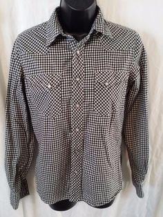 RALPH LAUREN Womens Black/White Checkered Snap Button Front Western Shirt Sz 6 #RalphLauren #Western #Casual