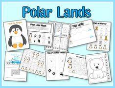Polar Regions Preschool Pack