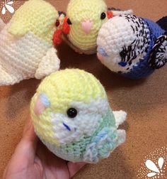Crochet Parrot, Crochet Birds, Cute Crochet, Crochet Animals, Knit Crochet, Tsumtsum, Crafts To Make And Sell, Cute Pokemon, Amigurumi Toys